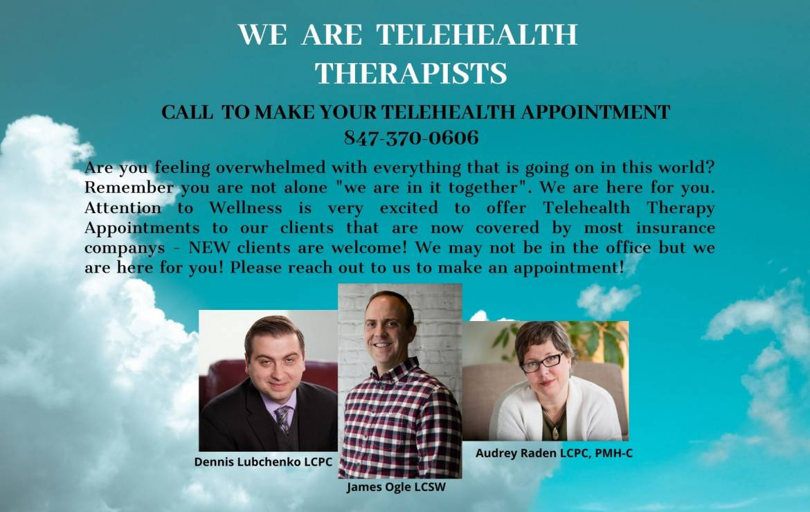 Telehealth is available – We are here for you!